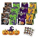 Borse per Feste di Halloween, Sacchettini Caramelle Halloween in Feste, Negozi, Halloween Decorazioni, Sacchetti di Dolcetto o Scherzetto per Bambini Feste e Dolcetti di Halloween