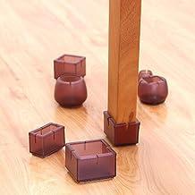 Aiyow Siliconen stoelpootdoppen, 16 stuks antislip rubberen ronde meubelpoten Bekers Tafelvoeten Covers Meubelpads Vloerbe...
