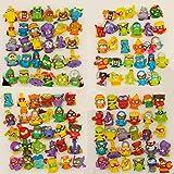 Figuras de dibujos animados 10-50 piezas Superzings Superthings figuras de acción de 3 cm Super Zings camión basura juguete colección de basura juguetes modelo defectuoso (color: 50 piezas diferentes)