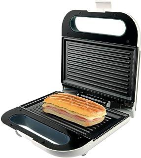 Taurus, Grill viande sandwitch panini PHOENIX GRILL, 968414, Plaques anti-adhésives, Blanc , 800W