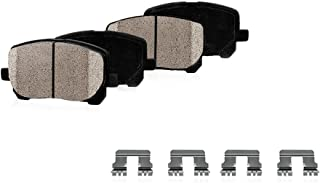 CPK11055 REAR Performance Grade Quiet Low Dust [4] Ceramic Brake Pads + Dual Layer Rubber Shims + Hardware