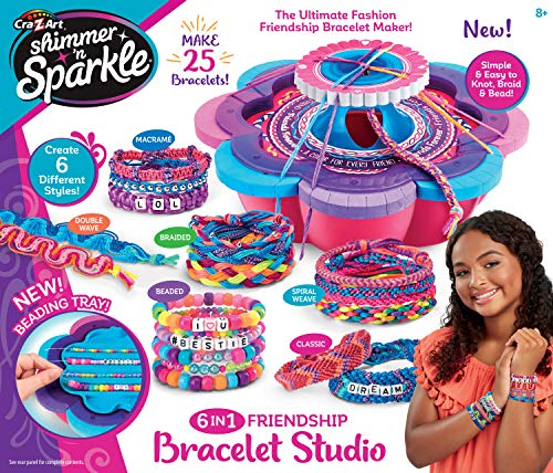 Shimmer and Sparkle 17887 SHIMMER N SPARKLE 5 IN 1 FRIENDSHIP BRACELET STUDIO, Multi-Colour