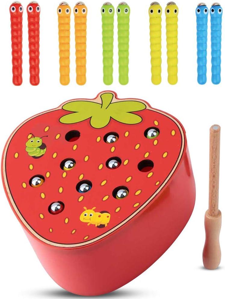 Capture Worm Magnetic Wooden Rare Toy De Kid Educational Outlet sale feature Intelligence