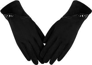 دستکش گرم زمستانی زنانه ، طرح کنتراست رنگی صفحه لمسی دستکش راننده ضد باد ضد آفتاب دستکش