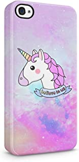 Unicorn Head Believe in Us Hard Plastic Phone Case for iPhone 4 & iPhone 4s