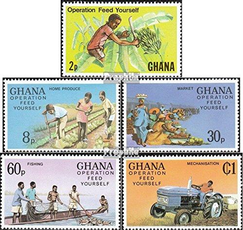 Ghana 754A-758A (complète.Edition.) 1978 Selbstversorgung (Timbres pour Les collectionneurs) Circulation routière