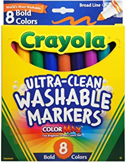 Crayola Washable Bold Broad Line Markers 8 ea (Pack of 2)