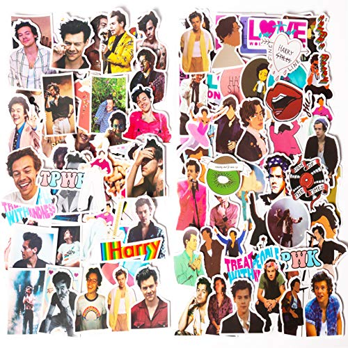 100PCS Singer Harry Styles Stickers for Laptop and Water Bottles, Waterproof Durable Trendy Vinyl Laptop Decal Stickers Pack for Teens, Computer and Travel Case (100pcs(Harry Styles 1+Harry Styles 2))