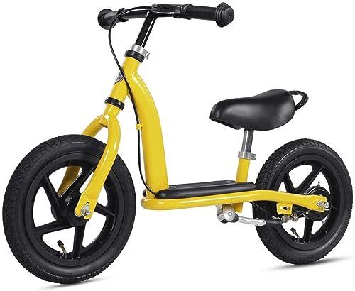 ¡No dudes! ¡Compra ahora! Bicicleta de equilibrio Kids Toddlers 12  Strider Balance Bike Bike Bike con reposapiés Neumáticos de goma Manija antideslizante Asiento ajustable Sin pedal Empuje y camine de paso Camine para personas de 18 a  100% autentico