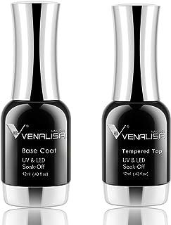 VENALISA Kit de esmalte de uñas profesional de 12 ml Bse templado para manicura en casa kit de iniciación
