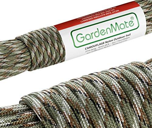 GardenMate Paracord 550 Corda di Nylon per Uso Esterno – Disponibile in Diversi Colori – Lunghezza 31 m Spessore 4 mm – Corda Kernmantel Composta da 7 Fili di Nylon Resistente agli Strappi
