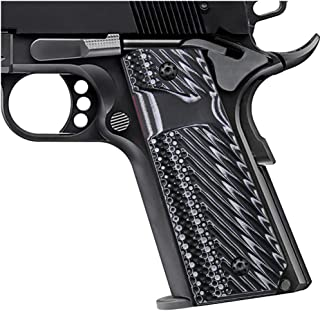 Cool Hand 1911 Slim G10 Grips, Free Screws Included, Full Size (Government/Commander),Big Scoop, 3/16