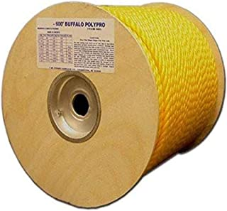 T.W Evans Cordage 80-007 1/4-Inch by 300-Feet Buffalo Twisted Polypro Rope, Yellow