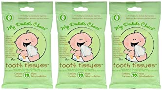 My Dentist's Choice, Dental Wipes, Baby Tooth and Gum Wipes for Baby and Toddlers - 3-Pack