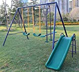 KL KLB Sport Metal Swing Set w/ Slide