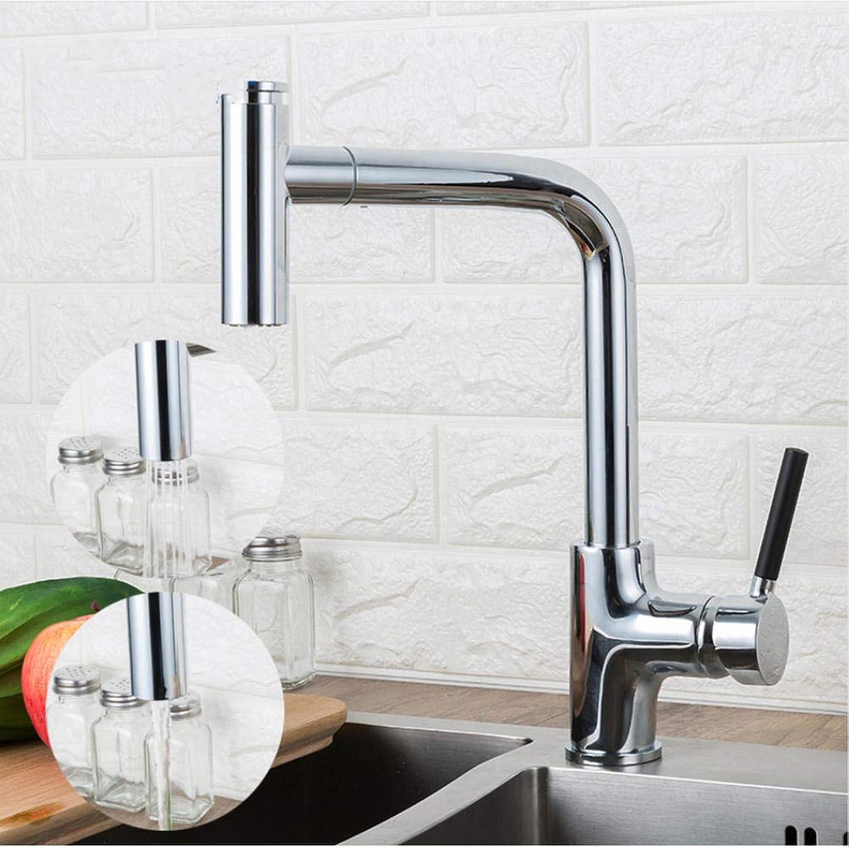 Küchenarmatur herausziehen Küchenarmaturen Silber Einhand-Einhand-Schwenker 360-Grad-Wasser-Mischbatterie Mischbatterie
