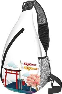 旅行とか バックパック メッセンジャーバッグ チェストバッグ ポリエステル製マルチポケットジッパー開閉バッグ 旅行 ヨガ フィットネス用