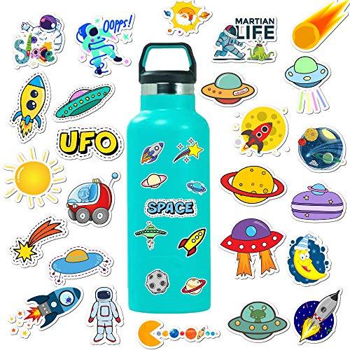 Later Handbemalte Cartoon Himmelskörper Planet Koffer Aufkleber super wasserdichte Graffiti Aufkleber 50PCS