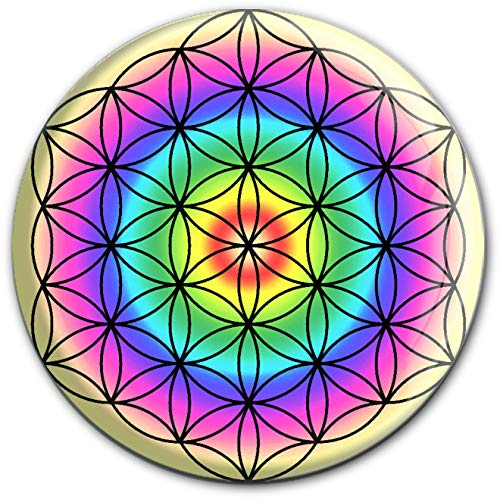 metALUm runder Acrylmagnet mit starkem Neodym - Magnet Blume des Lebens #1301009