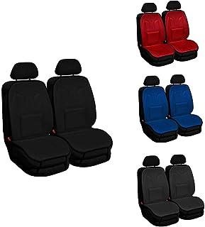 2er Set Saferide Sitzauflage Auto Autositzmatte Autositzbezüge Universal Sitzschutz PKW   Sitzbezüge Polyester Schwarz für Airbag geeignet   für Vordersitze 1+1