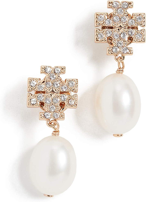 Tory Burch Women's Kira Pave Pearl Drop Earrings