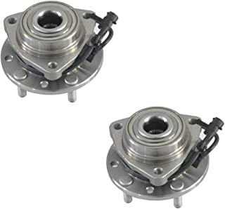 4WD Only DRIVESTAR 513124x2 Pair New Front LH RH Hub Bearing Assembly for 4X4 w/ABS GMC Chevy GM Trucks