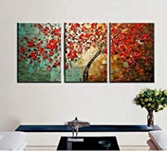 Modern decorative painting oil painting acrylic painting set tree 3 painting oil painting flower painting modern living room abstract-60x80cmx89pcsWithout frame