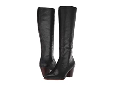 Frye Reed Inside-Zip Tall (Black) Women