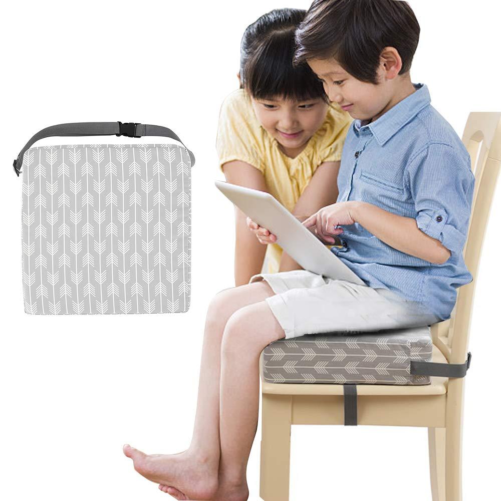 KinderSitzkissen f/ür Esszimmerst/ühle,Sitzkissen Kinderstuhl Baby,Sitzerh/öhung Tragbare Stuhlpolster mit verstellbaren Gurten f/ür Kinder 32x32x8 cm #A