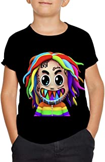 YTdz 6ix-9ine Gooba T-Shirts for Teen Girls Boys 3D Graphic Summer Short Sleeve Children Tees Tops Clothes