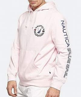 nautica men's big & tall graphic print hooded sweatshirt