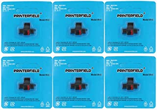 Printerfield IR-40T (6 Pack) Compatible Calculator Printer Ribbons Ink Roller Black/Red