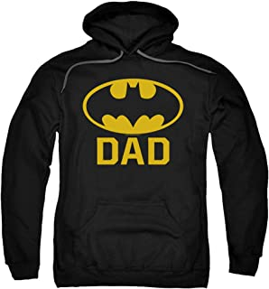 Batman Classic Logo for Fathers and Dads Pullover Hoodie Sweatshirt & Stickers