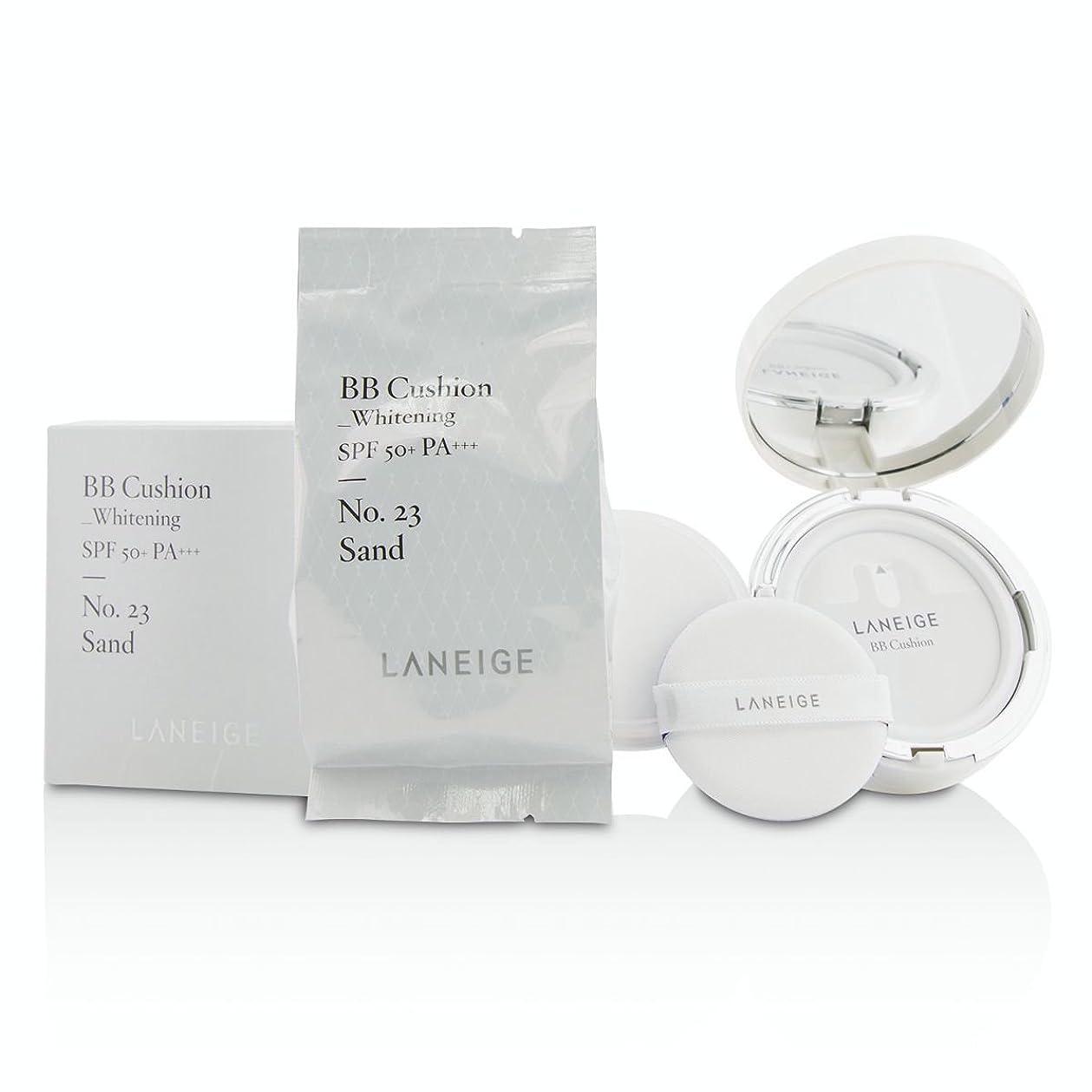 変位障害休日[Laneige] BB Cushion Foundation (Whitening) SPF 50 With Extra Refill - # No. 23 Sand 2x15g/0.5oz