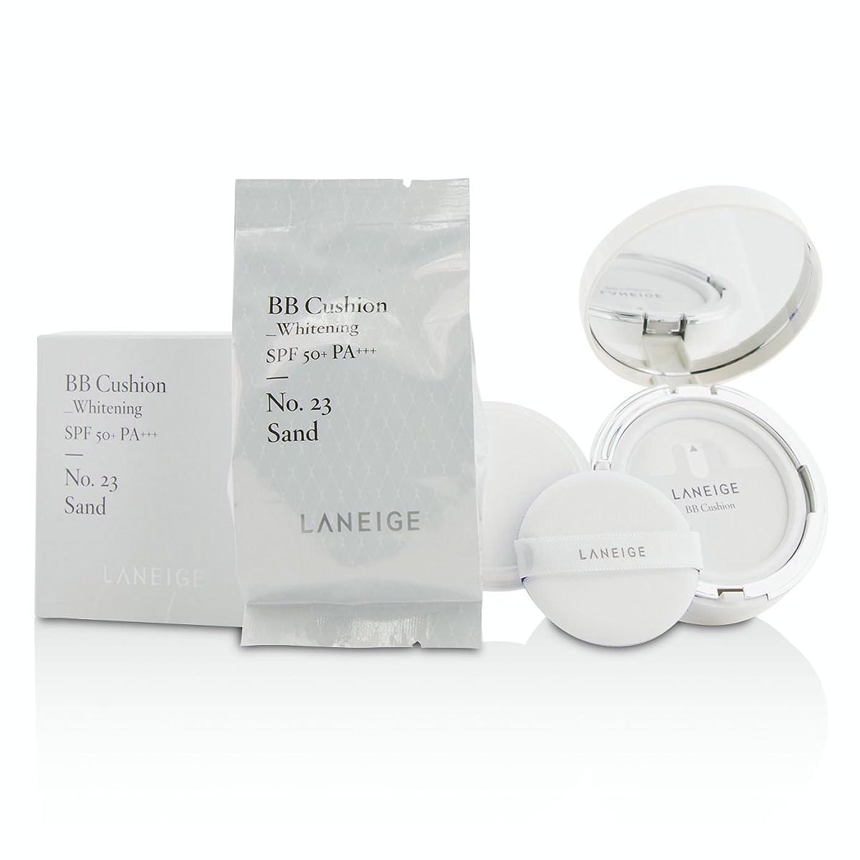 ポータブルマニアこどもの日[Laneige] BB Cushion Foundation (Whitening) SPF 50 With Extra Refill - # No. 23 Sand 2x15g/0.5oz