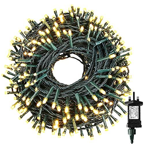 Outdoor Fairy Lights Mains Powered 50FT 100 LED Christmas Tree Lights 8...