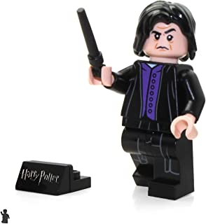LEGO 2018 Harry Potter Minifigure - Severus Snape (with Black Wand and Display Stand) 75956