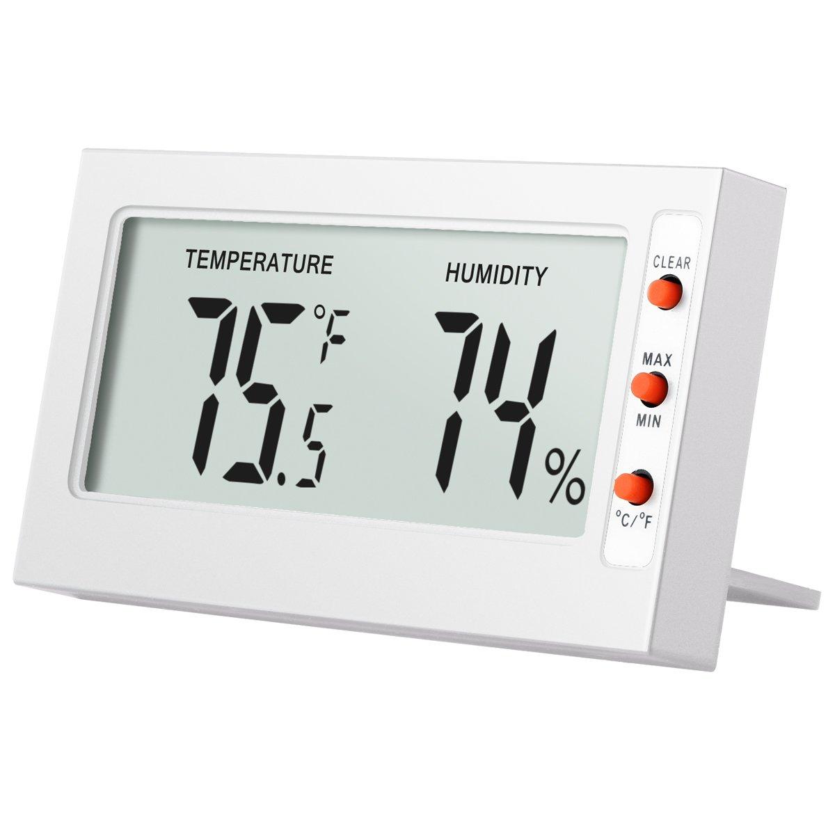 1x Mini Digital LCD Thermometer Hygrometer Humidity Temperature Meter Indoor