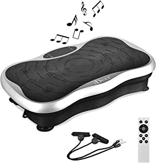 iDeer Vibration Platform Fitness Vibration Plates,Whole Body Vibration Exercise Machine w/Remote Control &Bands,Anti-Slip Fit Massage Workout Vibration Trainer Max User Weight 300lbs