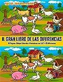 Il Gran Libro de las Diferencias : 55 Paginas, Dibujos Coloridos y...