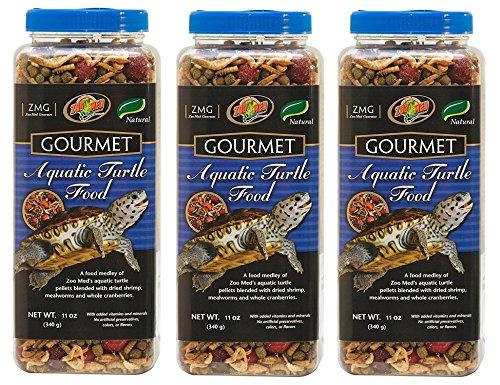 Zoo Med Gourmet Aquatic Turtle Food (Pack of 3)