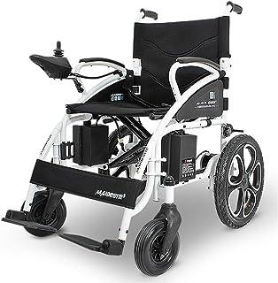FTFTO Inicio Accesorios Silla de Ruedas eléctrica para Personas Mayores discapacitadas Sillas de Ruedas eléctricas Plegables y Ligeras (Negro)