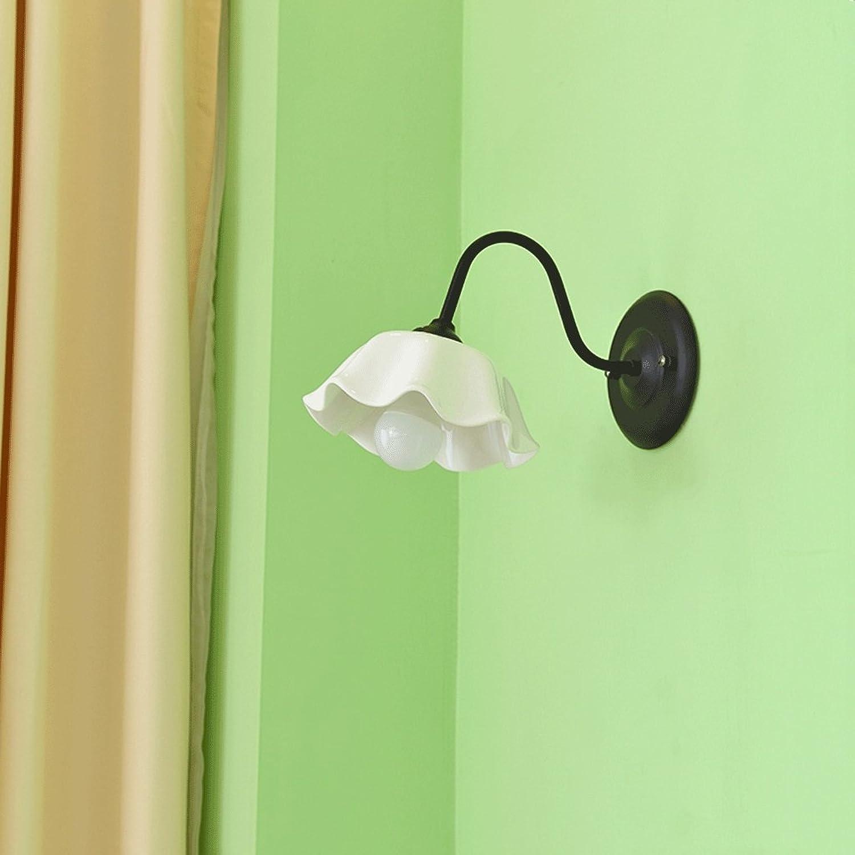 ZYN Keramik Einfache Wandleuchte - Pastoralen Einfachheit American Style Nordischen Stil Mediterranen Stil Nachttischlampe Schlafzimmer Wohnzimmer Keramik Wandleuchte ZYNSF (Farbe   SCHWARZ)
