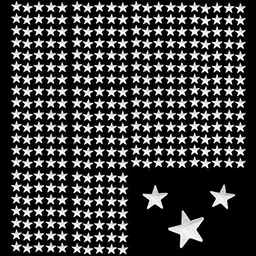 Oblique-Unique® 350 x Sterne Sticker Aufkleber in Gold oder Silber - wählbar (Silber)