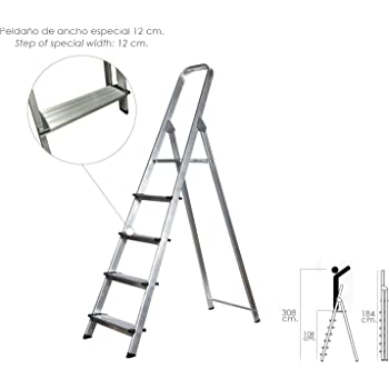 Escalera Aluminio Maurer Domestica/profesional En131 - 6 Peldaños: Amazon.es: Hogar