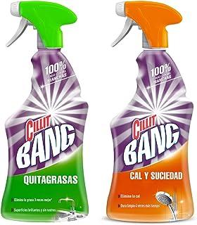 Cillit Bang Quitagrasas y Cillit Bang Cal y Suciedad - Limpiador cocina y baño en spray, pack de 2 x 750 ml