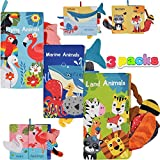 Best Soft Books For Babies - JOYIN 3 Packs Soft Baby Cloth Books Touch Review