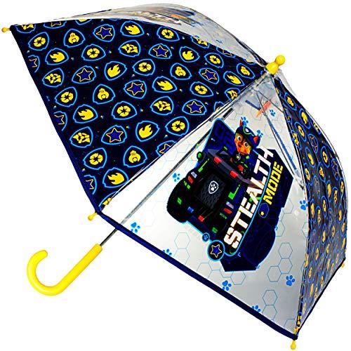 alles-meine.de GmbH Regenschirm / Kinderschirm - Paw Patrol - Hunde - durchsichtig & transparent - Ø 77 cm - durchscheinend - klar - Kinder Stockschirm - für Mädchen Jungen /..