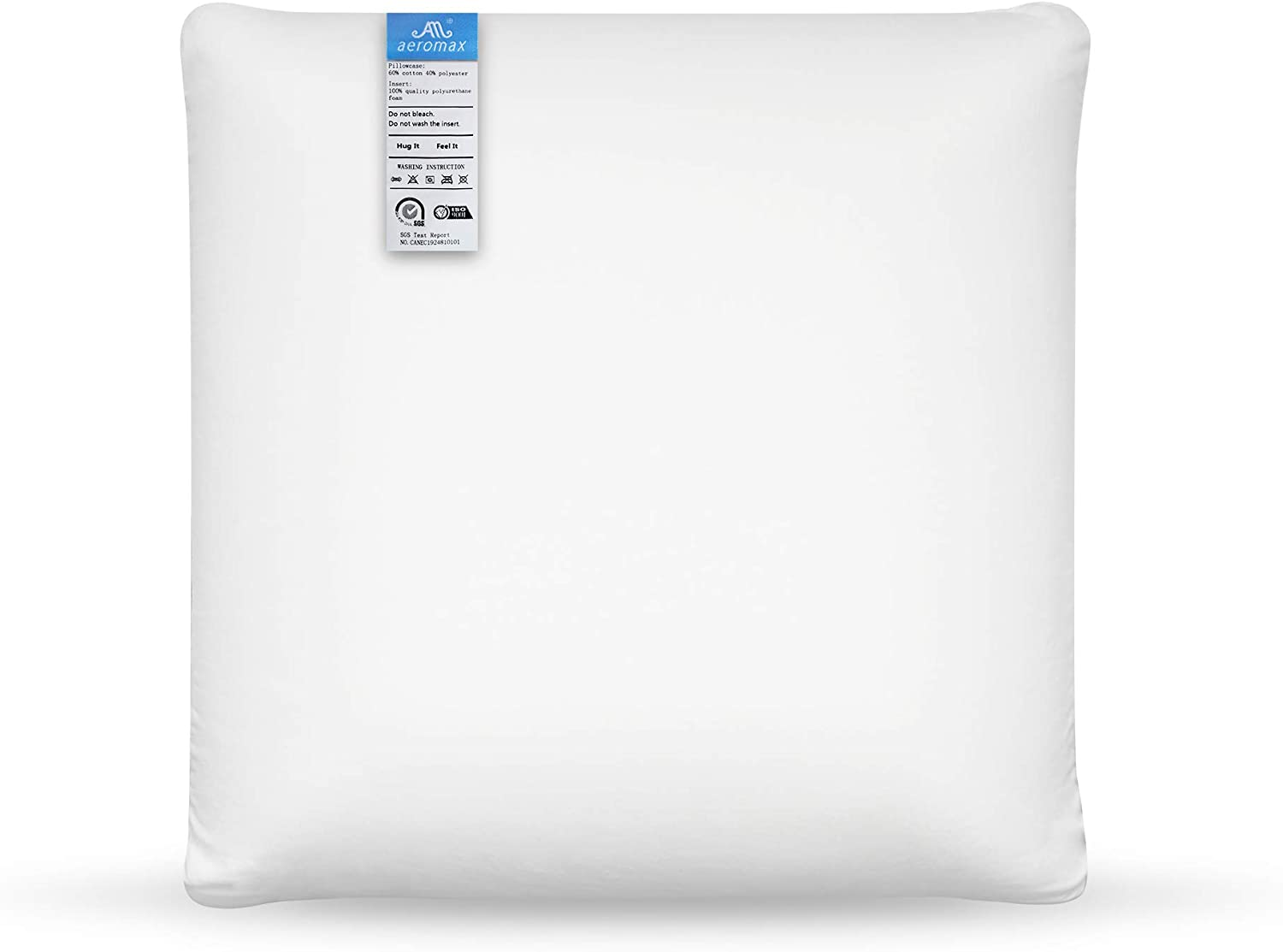 AM AEROMAX Memory Foam Throw Pillow Insert 18 x 18-Inch Insert with Cotton Cover Decorate Pillow Insert Without Deform After Longtime Use for Sofa Bedroom and Living Room