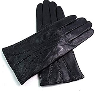 LE Ladies Real Leather Stripe Detail Gloves